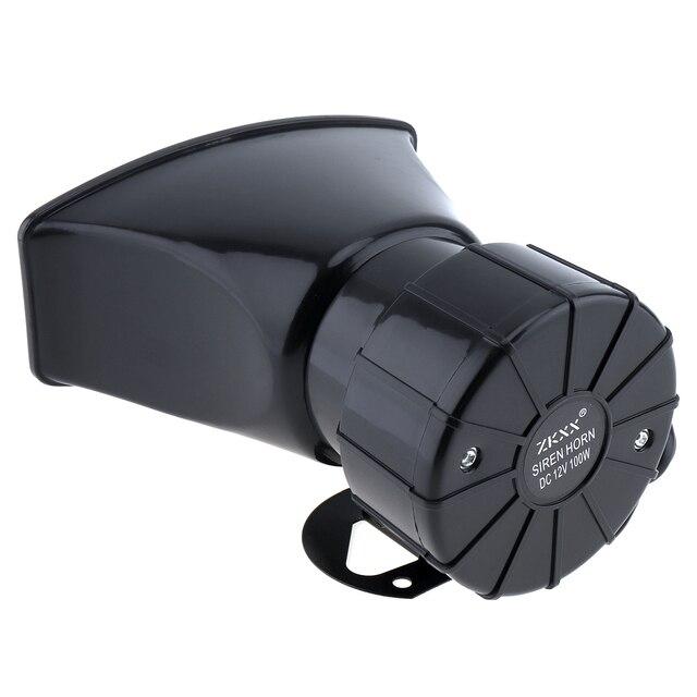 100W 12V 7 dźwięk samochód elektroniczny ostrzeżenie syrena Alarm motocyklowy strażacy pogotowia głośnik z mikrofonem dla samochodów/motocykli