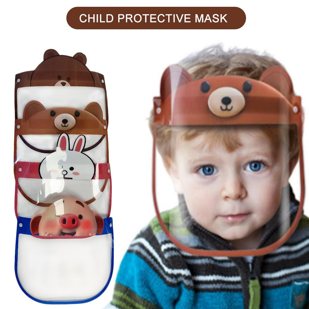 New Child Protective Face Mask Cute Cartoon Anti-fog Dust-proof Anti-spatter Waterproof Safety Full Facial Cover Shield