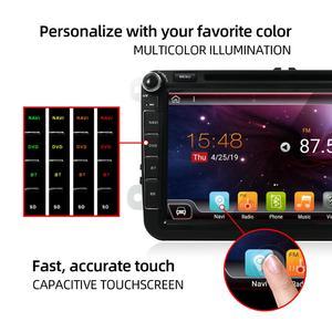 Image 3 - Android 10 Auto DVD player GPS Navigation Auto Radio Für Volkswag/Golf/Tiguan/Skoda/Sitz/altea/Skoda Wifi Bluetooth Hinten Kamera 4G
