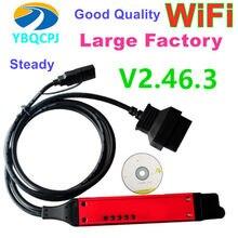 Vci3 v2.46.3 qualidade a + grande cabo sdp3 vci3 scanner wifi 2.46.3 para o diagnóstico sem fio VCI-3 caminhão 2.31 em vez vci2