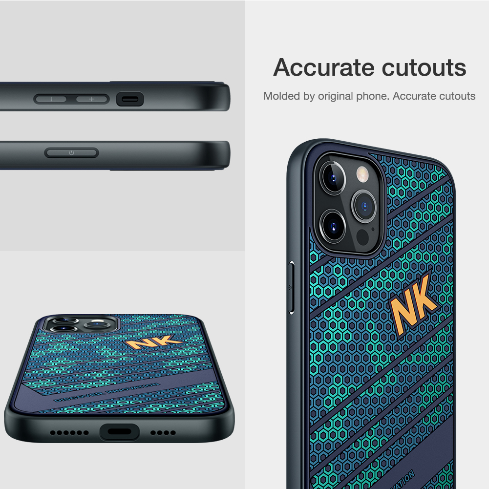 Smooth Shockproof Silicone PC Back Cover 3D Honeycomb Texture Case for iPhone 12 Pro Max 4