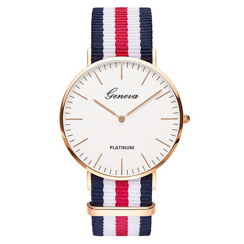 2020 Hot Selling Men Watches Fashion Men Wristwatch Geneva Nylon Strap Quartz Watch Casual Unisex Watch Clearance Sale Dropship