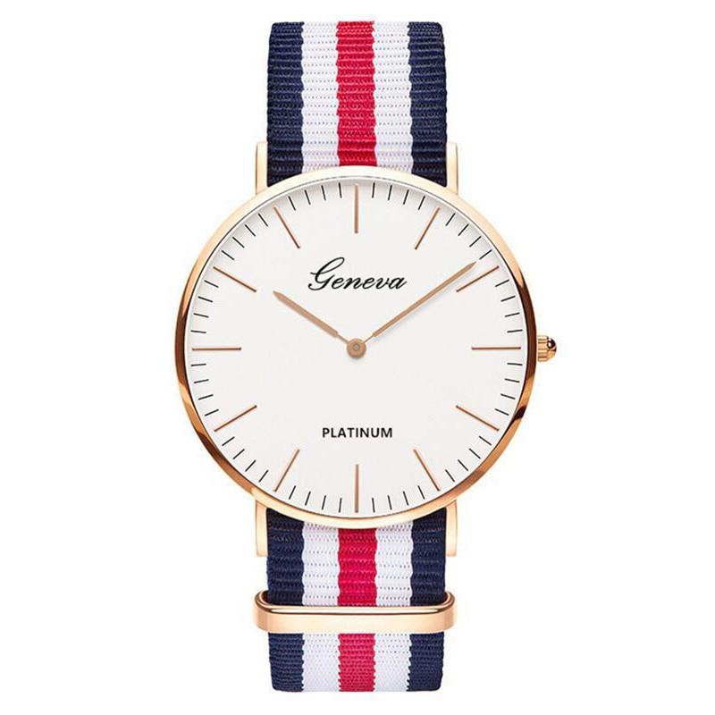 2020 Hot Selling Men Watches Fashion Men Wristwatch Geneva Nylon Strap Quartz Watch Casual Unisex Watch Clearance Sale Dropship