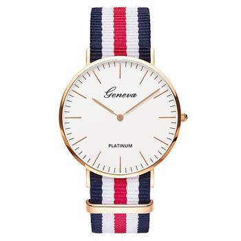 2020 Hot Selling Men Watches Fashion Wristwatch Geneva Nylon Strap Quartz Watch Casual Unisex Clearance Sale Dropship