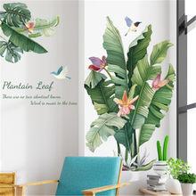 Estilo nórdico planta verde adesivo de parede decoração para casa sala estar quarto dos miúdos praia tropical folhas palmeira arte decalque muraux