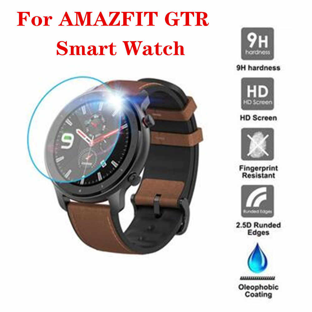 2019 NEW 3PC Clear Film Tempered Glass Screen Protector for AMAZFIT GTR Smart Watch 42/47mm Smart watch Protective accessories