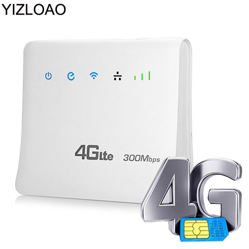 YIZLOAO 4G LTE CPE Wifi Router Plus Broadband 4G 3G Mobile Hotspot WAN/LAN Port Gateway Network Access Point Singnal Booster