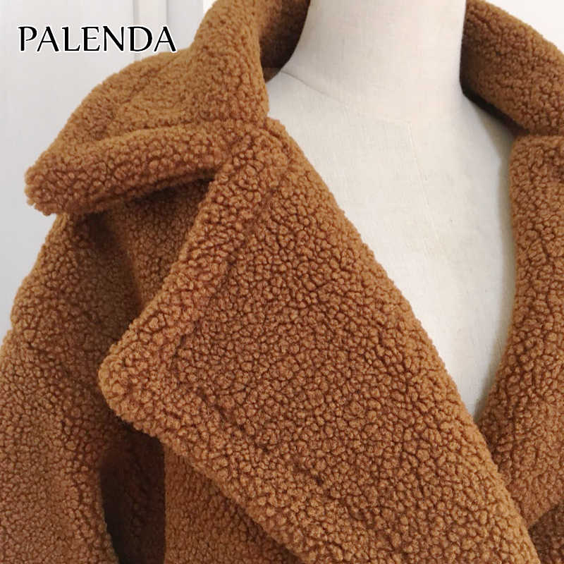 2019 Baru Teddy Mantel Bulu Imitasi Mantel Panjang Wanita Domba Mantel Bulu 10 Warna Mantel Tebal