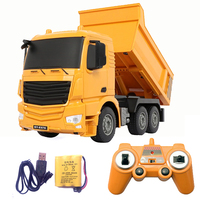 2.4G RC cars dump truck Toys for children boys Xmas birthday gifts yellow color RC Engineering truck model Boys Beach toys