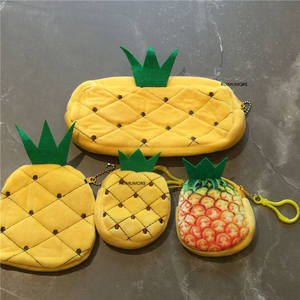 Plush-Purse Keychain Coin-Bag And with 3sizes-Pineapple 8cm 10cm 20cm