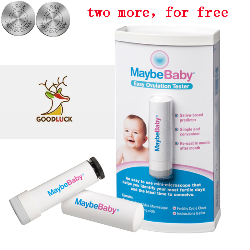 MaybeBaby Fertility Tests Easy Re-Usable 10000Times Ovulation Tester Mini-microscope 99.9% Accuracy For Ideal Time To Conceive