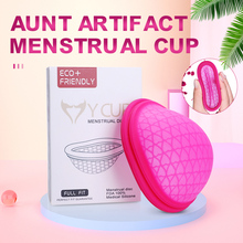 Soft Silicone Menstrual Cup Extra-Thin Sterilizing Menstrual Reusable Disc Flat-fit Design Menstrual Disk Tampon/Pad Alternative