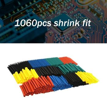 1060pcs Durable Wire Cable Sleeve Insulation Replacement Accessory Electrical Heat Shrink Tubing 2:1 Wire Cable Sleeve Kit