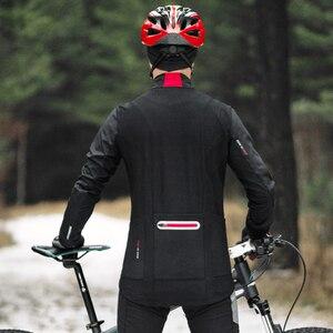 Image 4 - Santicชายขี่จักรยานเสื้อแจ็คเก็ตฤดูหนาวFleece Windbreaker MTBจักรยานWarm BreathableเอเชียขนาดK9M5112R