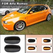 2X Динамический светодиодный, боковой, габаритный фонарь для Alfa Romeo 147 GT Fiat ошибок указатель поворота мигает мигалки лампы