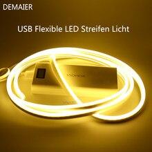 USB neon lamp flexible seil rohr wasserdicht dekoration shape DIY WS2812B Smart 5050 RGB LED Individuaily Address TV Hintergrun