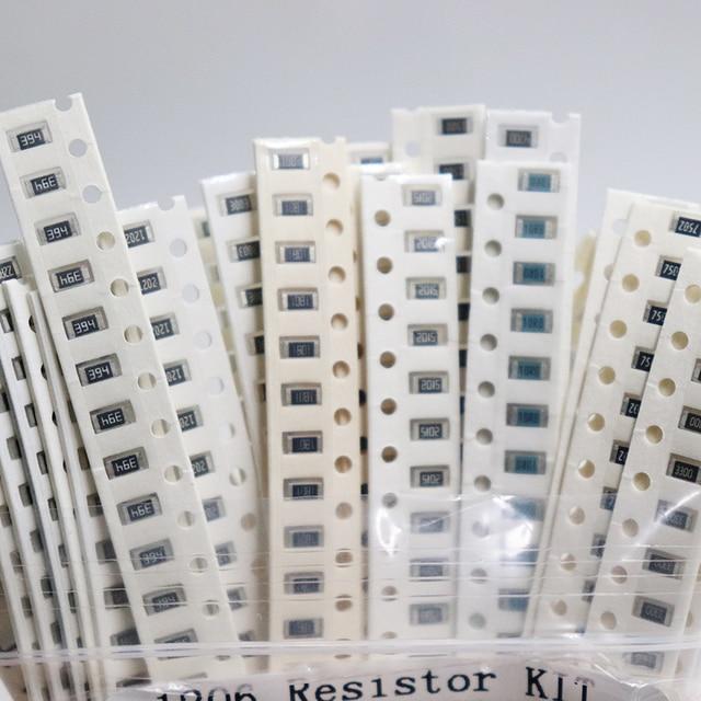 1206 SMD Resistor Kit Assorted Kit 1ohm-1M ohm 1% 33valuesX 20pcs=660pcs Sample Kit 2