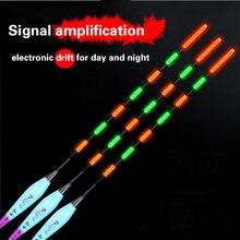 3 шт/лот электрические поплавки для рыбалки ночной светящийся