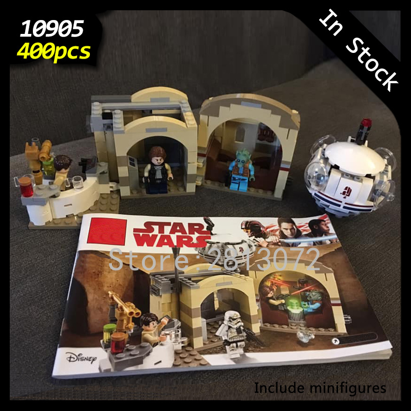 In Stock 10905 Star Series Wars The Mos Eisley Cantina 400pcs Star Wars Seriers Model Building Blocks Compatible With 75205 Toys
