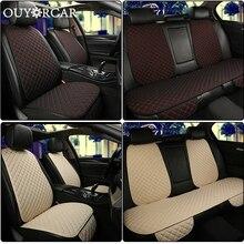 Vlas Auto Seat Cover Protector Voorste Rugleuning Kussen Mat voor Auto Voor Auto Styling auto interieur Truck Suv of Van