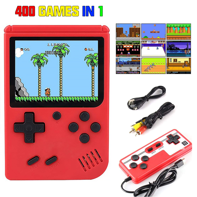Mini Handheld Game Player Retro Game Console Player 400 In 1 Games Retro Video Console 8 Bit 3.0 Inch Box TV Console Gift Kids(China)