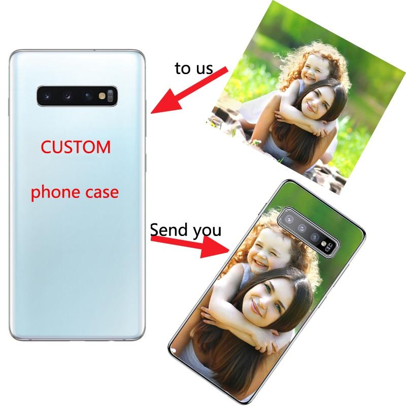 Coque de personnalisation de coque arrière souple pour Samsung Galaxy Note 20 10 S6 S7 S8 S9 S10 A71 S21 S20 FE Ultra Plus 5G