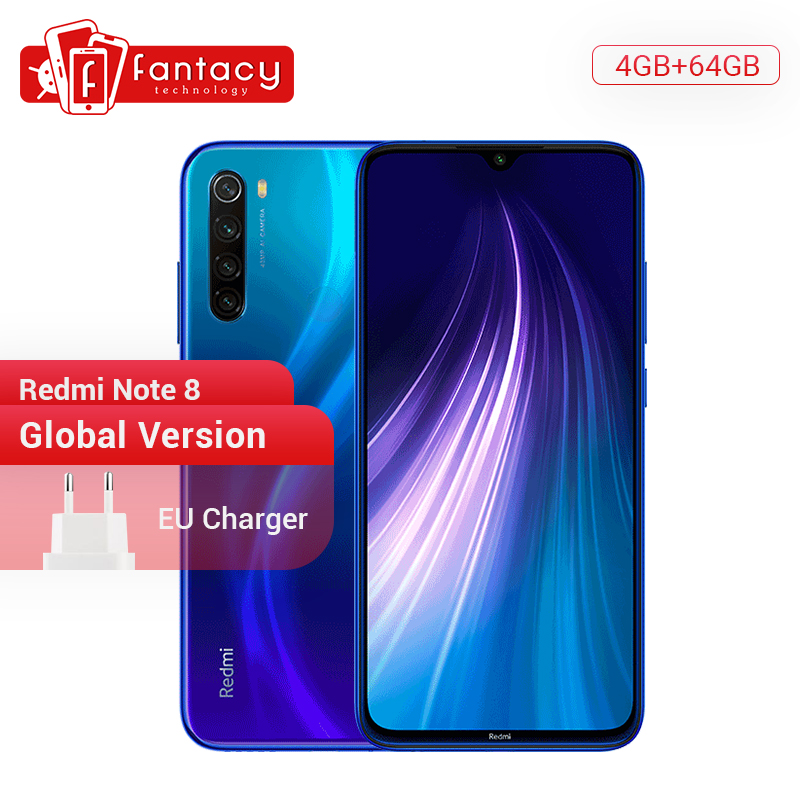 <font><b>Global</b></font> Version <font><b>Xiaomi</b></font> <font><b>Redmi</b></font> <font><b>Note</b></font> <font><b>8</b></font> <font><b>4GB</b></font> <font><b>64GB</b></font> 48MP Quad Camera Smartphone Snapdragon 665 Octa Core 6.3