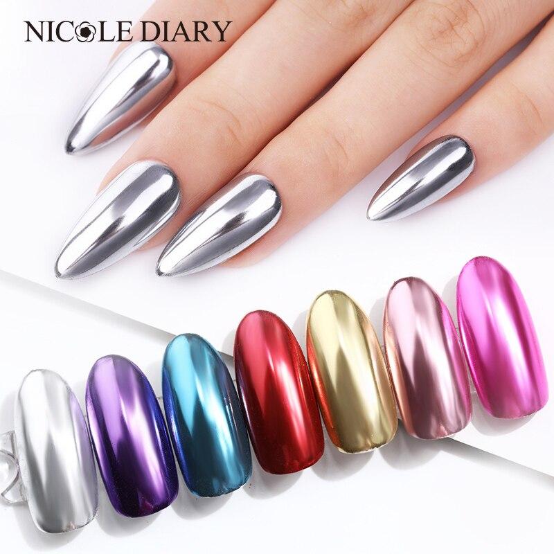 1 коробка, зеркальный ногтевой порошок, розовое золото, шампань, серебро, золото, хром, блестящий пигмент для дизайна ногтей, украшение для но...