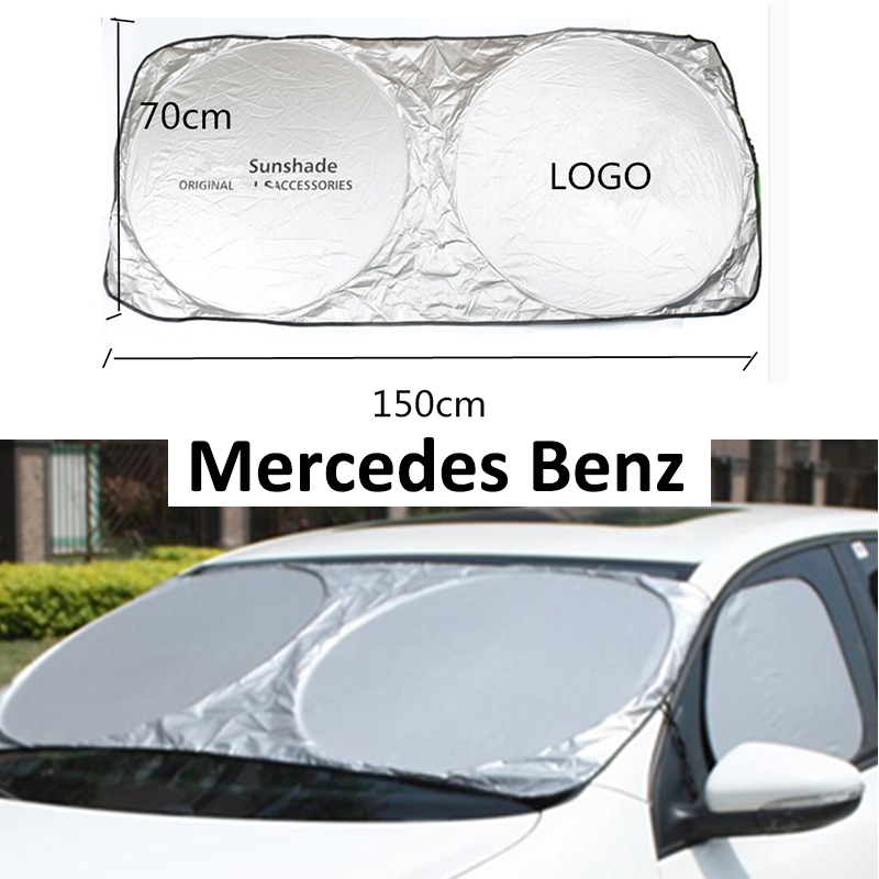 Car Windscreen Front Windshield Sunshade Sun Shade For <font><b>Mercedes</b></font> Benz A W168 W169 W176 W177 <font><b>B</b></font> W245 W246 W247 C W203 W204 W205 AMG image