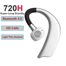 Business Bluetooth Headset Wireless Earphone Car Bluetooth Phone Handsfree MIC Music for iPhone Xiaomi Samsung(China)