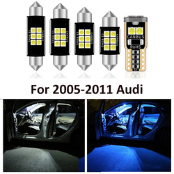 14 Pcs Car White Interior LED Light Bulbs Package For 2005-2011 AUDI A6 4F C6 S6 RS6 Sedan Map Dome License Lamp Light Styling