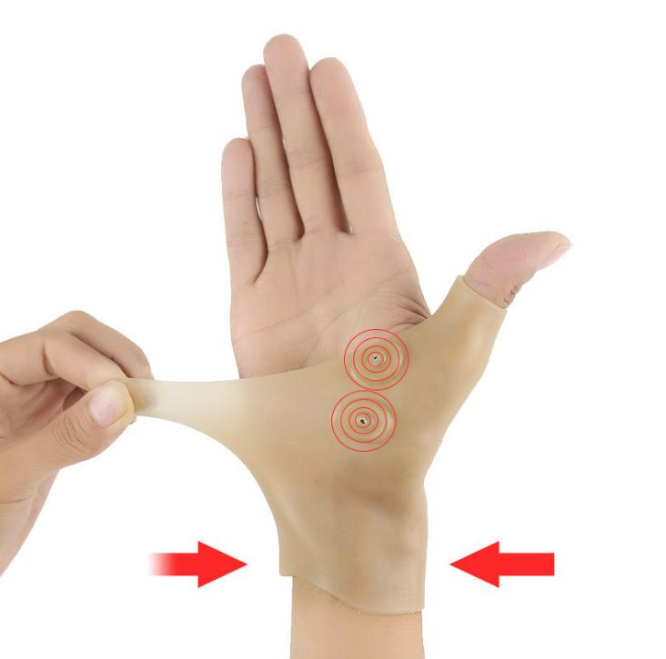 Magnetic Therapy Gloves Wrist Brace Hand Thumb Support Gloves Silicone Gel Massage Gloves 1pcs SN487