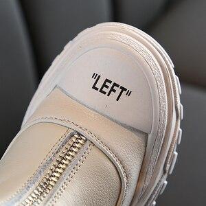 Image 5 - Chaussures pour enfants 2020 printemps nouveaux garçons filles en cuir véritable Martin bottes Anti coup fond souple portable bottes taille 26 à 37
