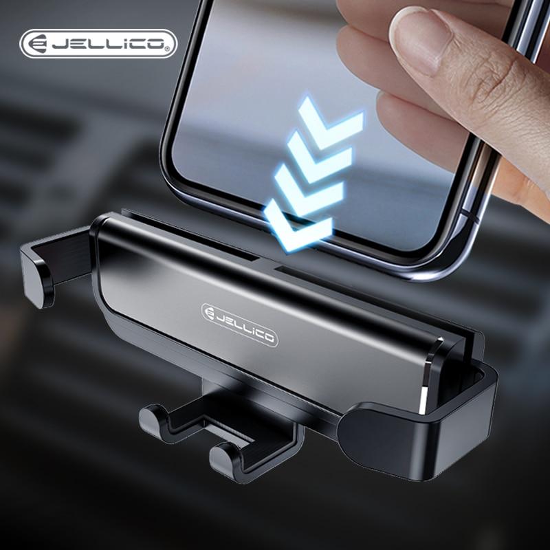 Jellico Mobile Phone Holder Car Holder Gravity Bracket Air Vent Stand Mount Support Holder Stand Accessories Telefon Tutucu