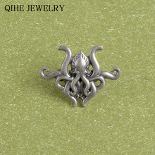 """The Call Of Cthulhu"" Octopus Bros Alloy Fashion Pin Kustom Kerah Pin Lencana Mythos Mengerikan Novel Hadiah Perhiasan penggemar(China)"