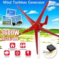 3600 Вт ветер Мощность генератор турбин 12/24/48V 5 ветра лопатки вариант с контроллером заряда Применение для дом  осветительные приборы  кемпинг...