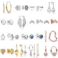 2019 NEUE 100% 925 Sterling Silber Rose Gold Poliert Crown O Freier Funkelnde Krone Stud Ohrring Fit DIY Frauen Original schmuck