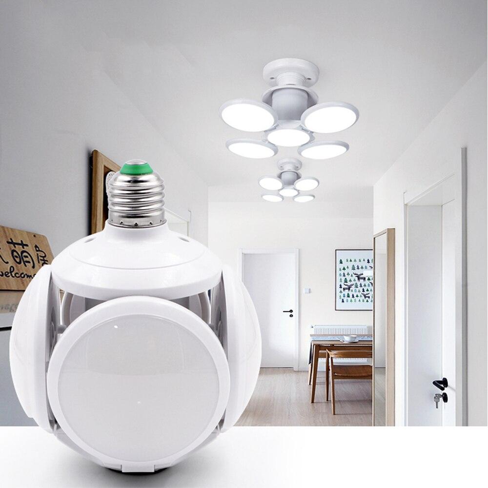 Super Bright LED Folding Bulb E27 40W Football Modeling Lamp AC 85-265V LED Bulb Bubble Ball Bulb Foldable Replace Halogen Light