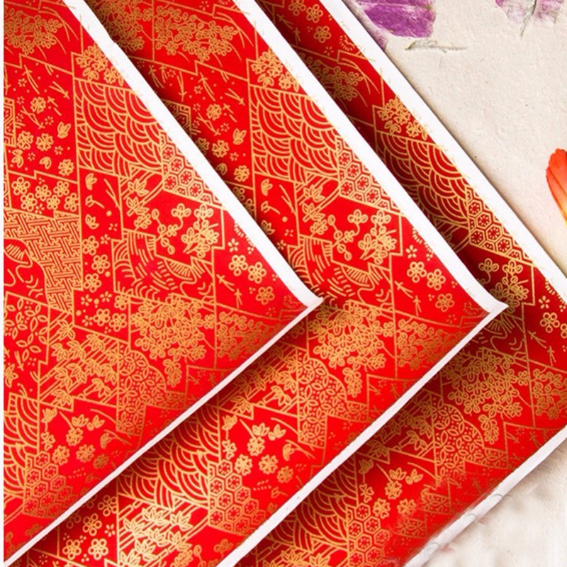 Image 4 - Origami  Japanese Chiyogami Yunzen Paper, Hand silk Screened Craft Paper For Gift Wrapping Box Doll Decorationpaper forpaper for craftspaper wrapping -