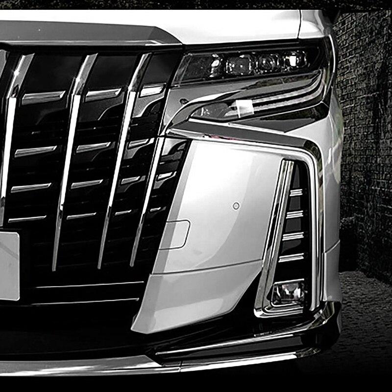 Для Toyota Alphard 30 серии передние противотуманные фары и противотуманные фары декоративное покрытие протектор полосы Противотуманные фары све...