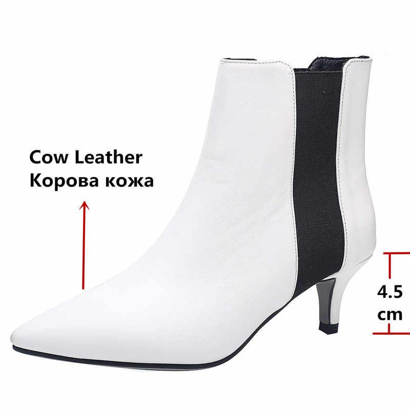 FEDONAS Merk Elegante Dames Dunne Hakken Partij Prom Schoenen Vrouw Winter Warm Plus Size Chelsea Laarzen Mode Vrouwen Enkellaars