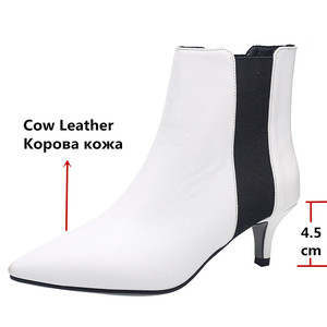 Image 3 - FEDONAS מותג אלגנטי גבירותיי עקבים דקים מסיבת נשף נעלי אישה חורף חם בתוספת גודל צ לסי מגפי אופנה נשים קרסול מגפיים