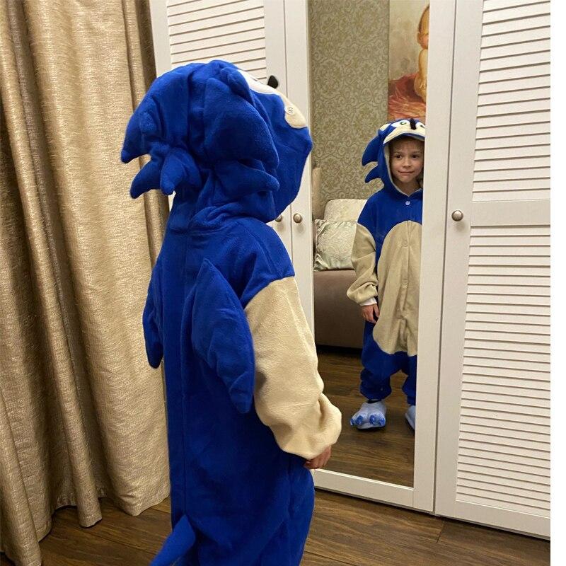Child Pajamas Slipper Kids Animal Hedgehog Onesie Cartoon One-Piece Pijama Boy Girls Fleece  Cosplay Costume Raccoon Kigurumi