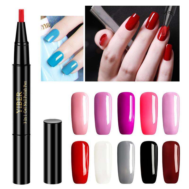 10 цветов, быстрая доставка, Гель-лак для ногтей, карандаш, один шаг, гелевая ручка для ногтей, нет необходимости в верхней основе, 3 в 1, УФ Гель-...