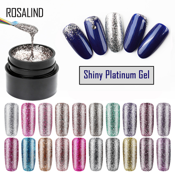 ROSALIND  Hybrid Varnishes Gel Nail Polish Set Glitter Platinum Painting Nails Art Poly UV Gellak Top Base Primer For Manicure