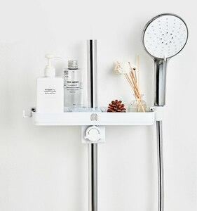 Image 5 - Dabai נייד אמבטיה מקלחות אחסון מדף תליית מגבת מדף תליית מדף אחסון DIY ארגון עם וו