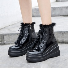 VANKARING натуральная кожа мех зима снег сапоги женщин теплые ботинки мода Zapatos туфли-Botas платформа водонепроницаемый женщины