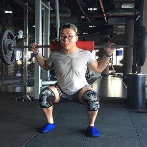 Image 5 - ROEGADYN Multi/bleu ciel 5mm genouillère pour haltérophilie Neoprenowa Fitness genouillère sport genouillères universelles pour les articulations