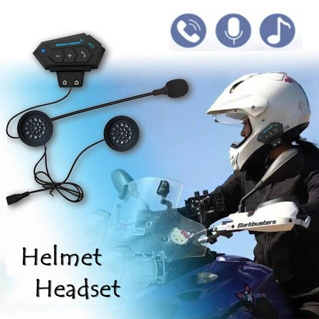 Kebidumeiชุดหูฟังหูฟังไร้สายใช้งานร่วมกับรถจักรยานยนต์หมวกกันน็อกสกู๊ตเตอร์พูดคุยแฮนด์ฟรี