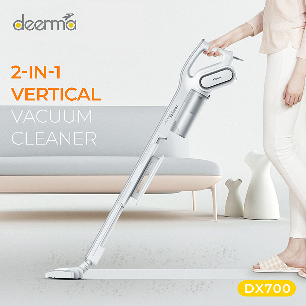2020 Deerma DX700 2-In-1 Vertical Hand-Held Vacuum Cleaner With Large Capacity Dust Box Low Noise Triple Filter Dust Collector